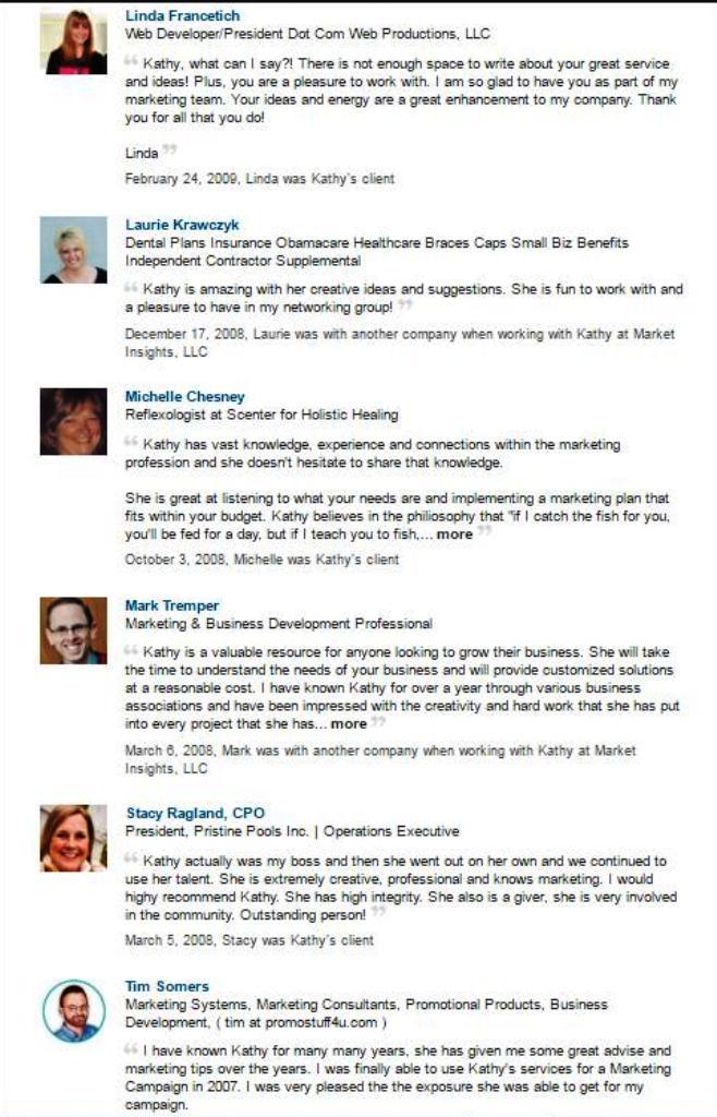 linkedin reviews2016